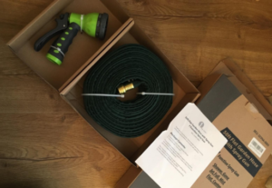 This Hose Is Designed Not To Take Up Very Much Space And Can Hang On A Hook  Or Be Placed In Box. This Is Great Because A Normal Rubber Garden Hose Is  ...